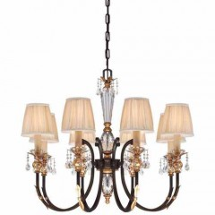 Metropolitan Lighting N6648-258B French Bronze w/ Gold Highligh Bella Cristallo