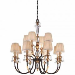 Metropolitan Lighting N6649-258B French Bronze w/ Gold Highligh Bella Cristallo
