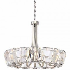 Metropolitan Lighting N6986-613 POLISHED NICKEL CASTLE AURORA