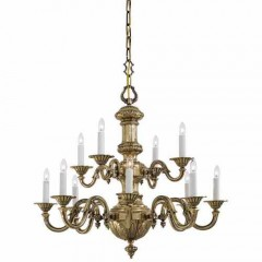 Metropolitan Lighting N700212 Classic Brass Metropolitan