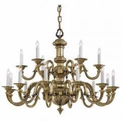 Metropolitan Lighting N700218 Classic Brass Metropolitan
