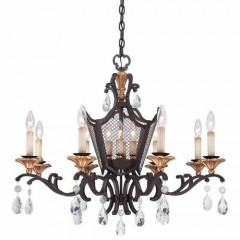 Metropolitan Lighting N7112-258B FRENCH BRONZE W/ GOLD HIGHLIGHTS
