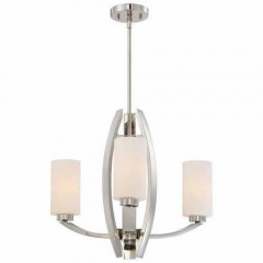 Metropolitan Lighting N7803-613 POLISHED NICKEL GLIMRENDE