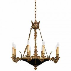 Metropolitan Lighting N850209 Dore Gold with Black Accents METROPOLITAN COLLECTION