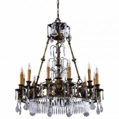 Metropolitan Lighting N9067 OXIDE BRASS VINTAGE/CRYSTAL
