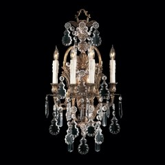 Metropolitan Lighting N950200 OXIDIZED BRASS VINTAGE/CRYSTAL