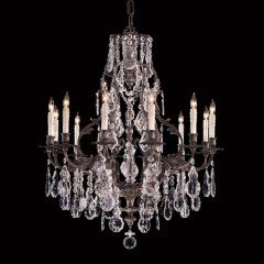 Metropolitan Lighting N950201 OXIDIZED BRASS VINTAGE/CRYSTAL