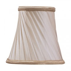 Metropolitan Lighting SH1929 Eggshell Twist + Gold Trim Metropolitan