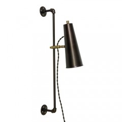 House of Troy NOR375-CHBAB Chestnut Bronze with Antique Brass Accents