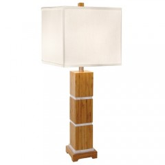Trumprints 1106-ASL-2069 Satin with Brushed Nickel Accents Tahiti- Square Shade
