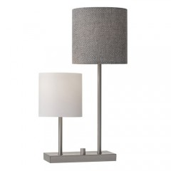 Adesso 1530-22 Brushed Steel Aubrey