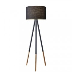 Adesso 6285-01 Black metal/wood Louise