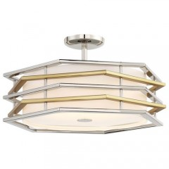 Kovacs P1072-657-L POLISHED NICKEL W/HONEY GOLD
