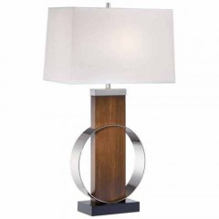 Minka Lavery 10031-0 Dip-Dyed Brushed Painting+Polished Nickel Table Lamps