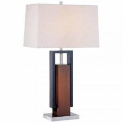 Minka Lavery 10034-0 Walnut+Black Table Lamps