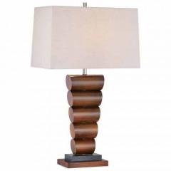 Minka Lavery 10036-0 Walnut+Black Table Lamps