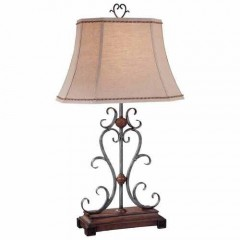 Minka Lavery 10361-0 Wood+Silver Table Lamps