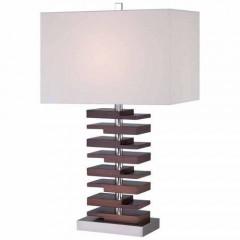Minka Lavery 12420-0 Walnut Table Lamps