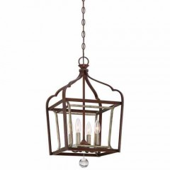 Minka Lavery 4343-593 DARK RUBBED SIENNA WITH AGED SILVER ASTRAPIA