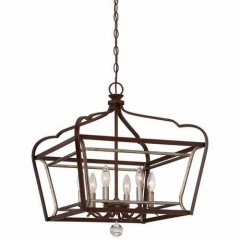 Minka Lavery 4348-593 DARK RUBBED SIENNA WITH AGED SILVER ASTRAPIA