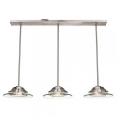 Access 50443LEDD-BS8CL Brushed Steel Phoebe