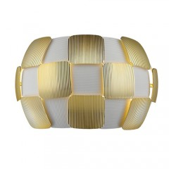 Access 50907LEDD-WHGLD White with Gold Leaf Layers